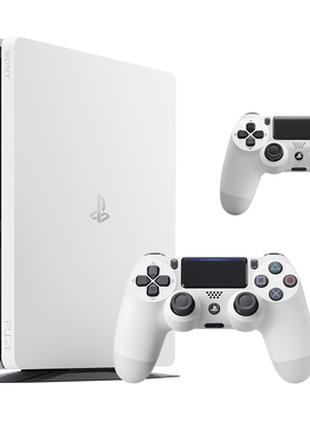 БЕЛАЯ!Sonу Playstation 4 Slim 500Gb, с двумя джойстикам