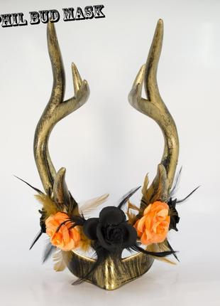 Карнавальная маска с рогами Санни