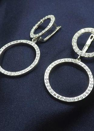 Серьги серебро 925 круг имп 20000