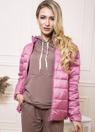 Куртка женская тонкая пуховая 129r7449 цвет розовый