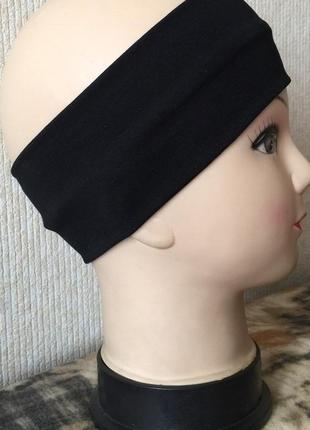 Спортивная повязка на голову хлопчатобумажная