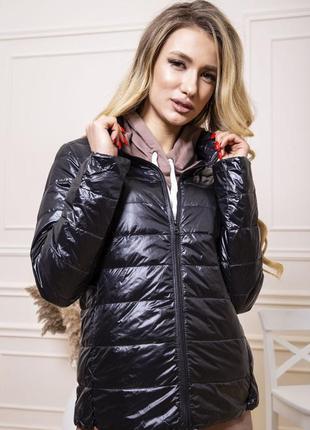 Куртка женская тонкая пуховая 129r7449 цвет черный