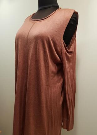 Теплое тонкое платье с длинным рукавом peacocks