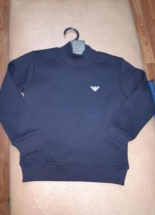 Теплый свитер 104,116,128 р. на мальчика с начесом турция