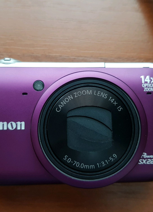 Фотоаппарат Canon Power shot SX220 HS + карта памяти + чехол