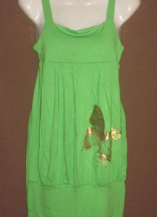 Платье  на бретельках летнее на девочку,44 р-р. дешево