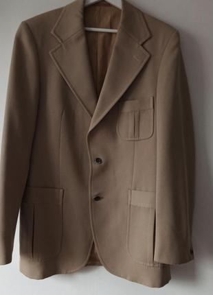 Классный бежевый тренч удлиненный пиджак пллтный с карманами ,...