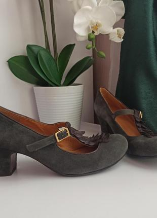 Шикарные оригинальные туфли натуральная кожа замша