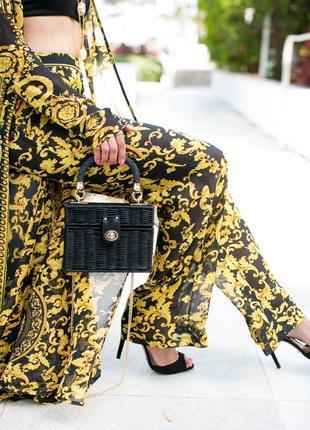 Шикарные легкие прозрачные штаны  брюки в стиле versace