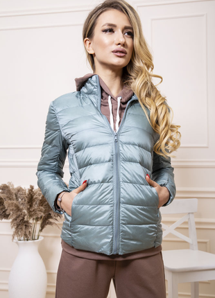 Куртка женская тонкая пуховая 129r7449 цвет мятный