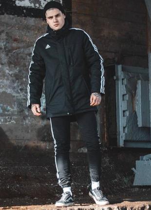 Мужская черная утепленная куртка весна/осень adidas originals🆕...