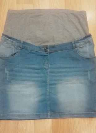 Стильная джинсовая юбка для беременных