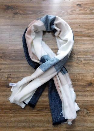 Стильный шарф плед теплый шарф палантин в клетку от primark