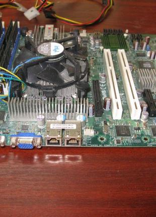 Supermicro X7SBE, s775, Xeon 3050, DDR2- 8Gb. HDD: 160Gb. БП 420В