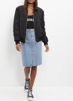 Джинсовая юбка карандаш из денима topshop