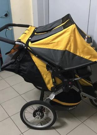 Прогулочная коляска для двойни BOB IRONMAN DUALLIE (Yellow)