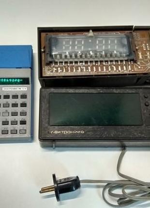 Часы СССР (цена за все) Электроника 11-03,2-08,микрокалькулято...