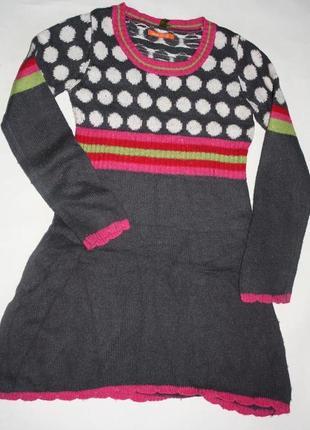 Платье с составом ангоры ф.hema р-122/128 в хорошем состоянии