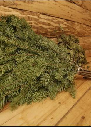 Веник из ели для бани (еловый, хвойный елка банный купить украина