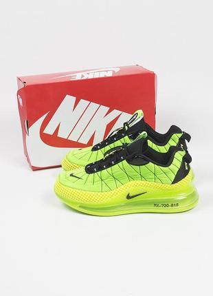 Кроссовки зелёные nike air max mx-720-818