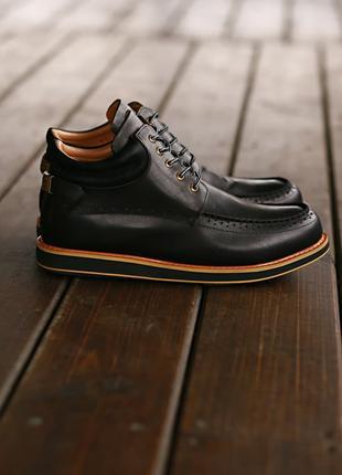 Люксовые Мужские Ботинки UGG Australia Leather Boot Mason Black