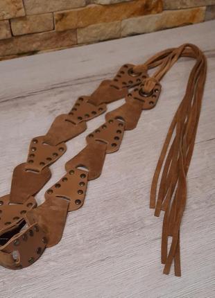 Пояс / ремень ручной работы из натуральной кожи/замшы