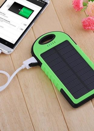 Портативное зарядное Power Bank 50000m на солнечной батареи павер