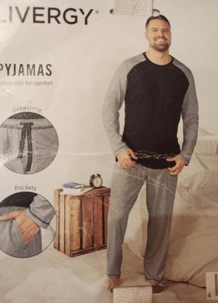 Трикотажная пижама livergy 4xl домашний костюм