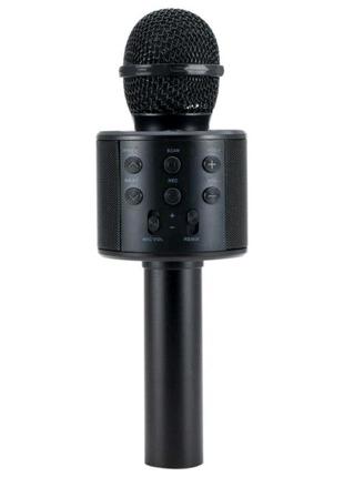 Беспроводной караоке микрофон WS-858Bluetooth с колонко