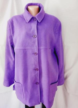 Распродажа!   стильное пальто, 75% шерсть, большой размер