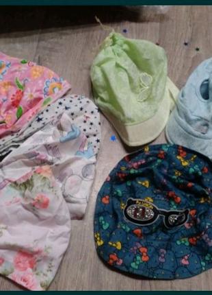 Детские косынки,панамка,кепка