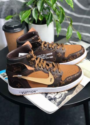 Женские Кроссовки Nike Air Jordan Retro High Louis Vuitton