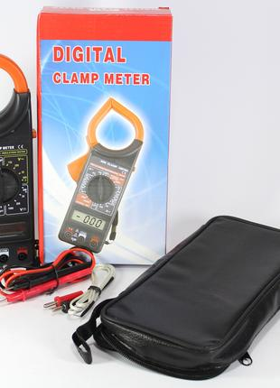 Мультиметр DT-266 digital токовые клещи цифровой универсальный