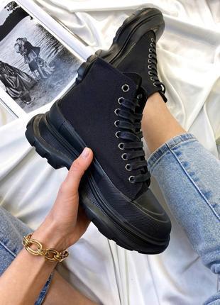Кроссовки Сникерсы Alexander McQueen Tread Slick Total Black