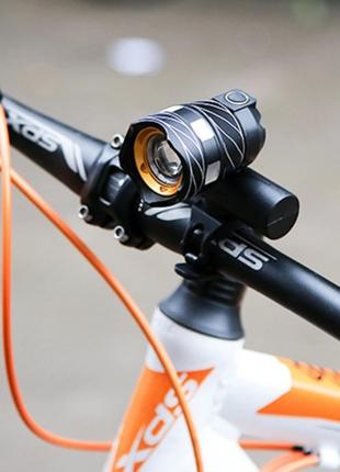 Велосипедный фонарь XML T6Велофара зум 400 м. 3 режима