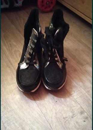 Демисезонные ботинки, женские ботинки на платформе
