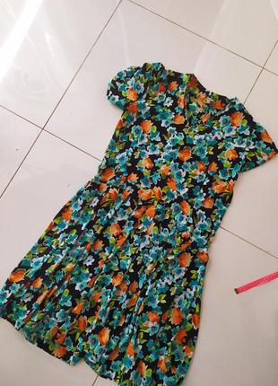 Цвкточное платье батал размер плюс