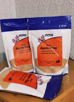 Чистая яблочная клетчатка пектин, Now Foods, 340 г.