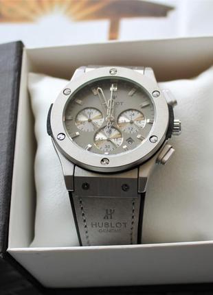 Шикарные наручные часы hublot big bang grey