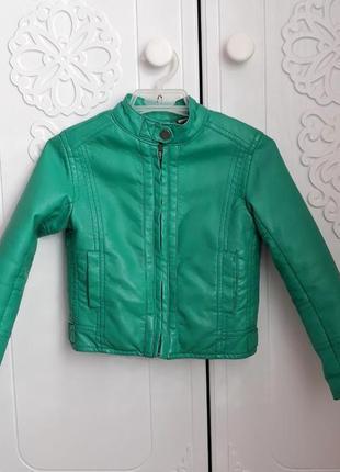 Куртка кожанка 98/104