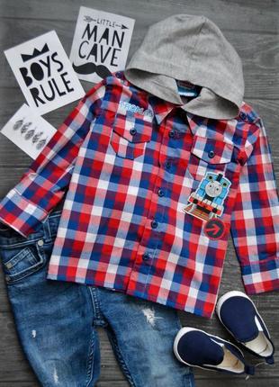 Классная рубашка в клетку с капюшоном