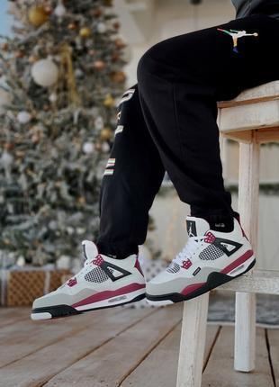 Топовые Мужские Кроссовки Nike  Jordan 4 Retro Psg