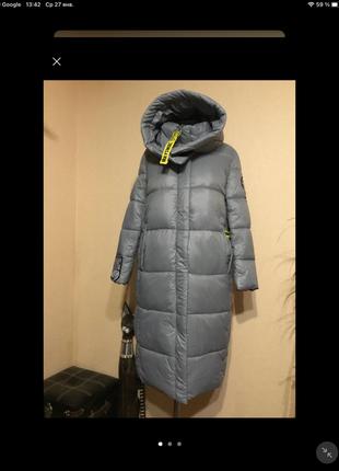 🔥отличное🔥 дутое длинное пальто одеяло кокон пуховик био пух