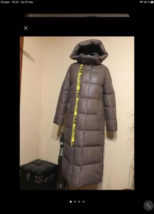 🔥отличное🔥 дутое пальто пуховик одеяло кокон длинное био пух