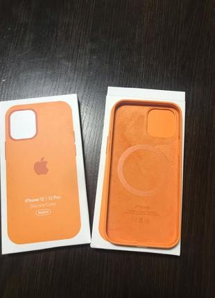 Silicone case iPhone 12/12 pro magsafe- 400 грн