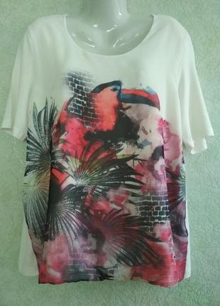Блуза оверсайз с тропическим принтом. gerry weber.