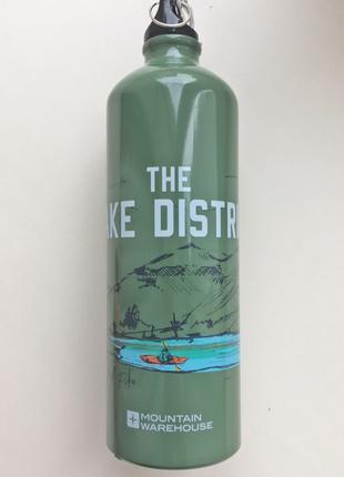 Металлическая бутылка с карабином Lake District (Озерный край)