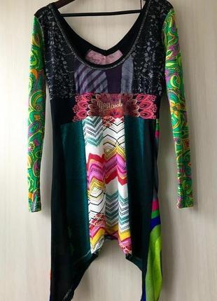 Блуза, туника в испанском стиле desigual / l