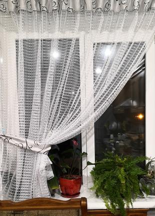 Занавеска штора тюль сетка с подхватом