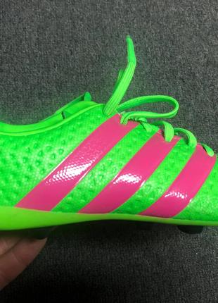 Детские бутсы adidas ACE 16.4 FxG Green/Pink/Black AF5034